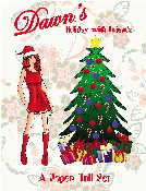 Dawn's Holiday with Friends Paper Doll Set