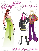 Longlocks Hair Heaven Deluxe Paper Doll Set