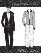 Gary's Men's Mart Paper Doll Set